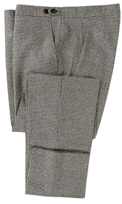 Equipage - Gray Houndstooth Wool Flannel Pants