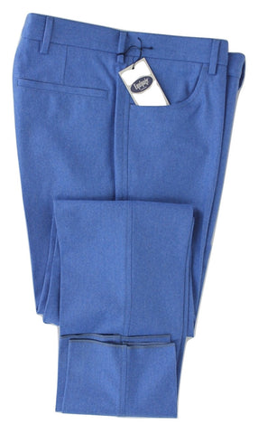 Equipage - Blue Wool Flannel Pants - PEURIST