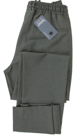 Equipage - Charcoal Lightweight Wool Drawstring Pants - PEURIST