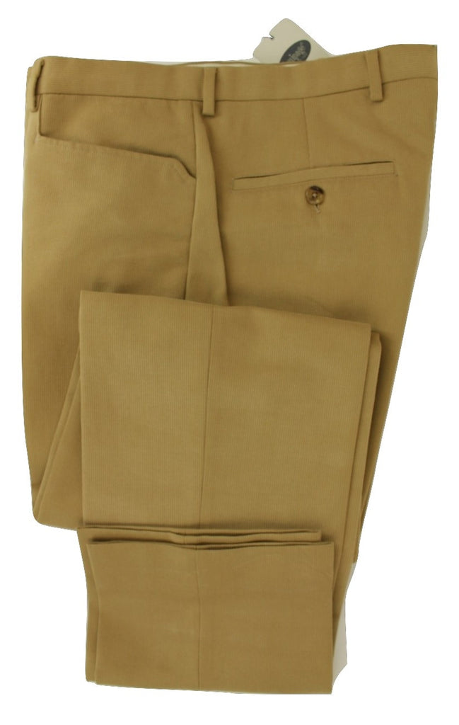Equipage - Tan Ribbed Cotton Pants - PEURIST