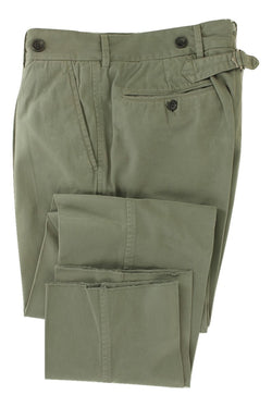 GX 1983 - Faded Green Cotton Pants - PEURIST