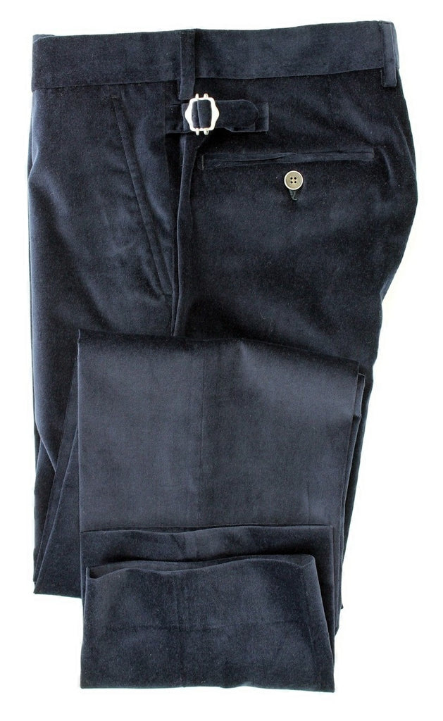 Equipage - Navy Velour Pants - PEURIST