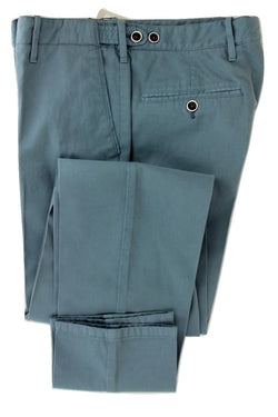 Equipage - Light Blue Washed Cotton/Cashmere Pants - PEURIST