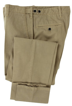 Equipage - Beige Washed Cotton/Cashmere Pants - PEURIST
