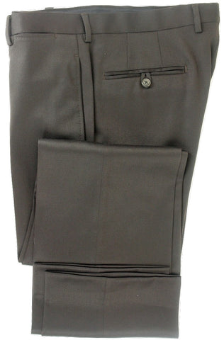 Equipage - Dark Brown Worsted Wool Pants - PEURIST