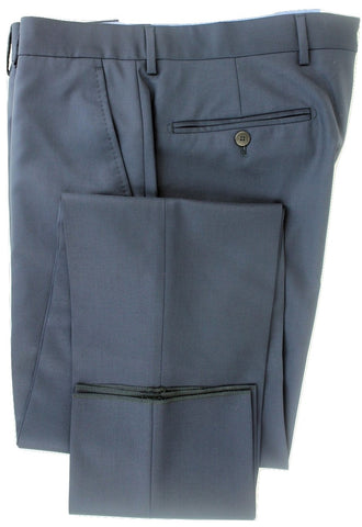 Equipage - Navy Super 150's Wool Pants, Four Season Wool - PEURIST