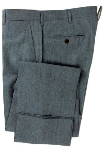 Equipage - Light Gray Flannel Wool/Cashmere Pants - PEURIST