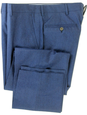 Equipage - Blue Wool Flannel Pants, Super 120s - PEURIST