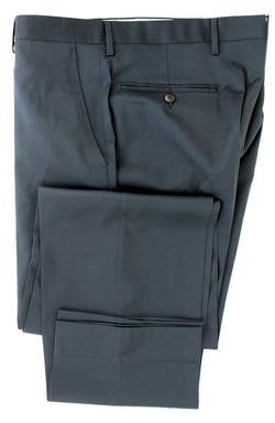 Equipage - Navy Wool Four-Season Wool Pants, Super 130s