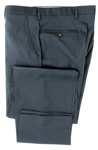 Equipage - Navy Wool Four-Season Wool Pants, Super 130s - PEURIST
