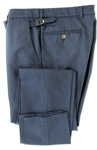 Equipage - Dark Blue Birdseye Wool Pants