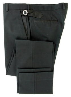 Equipage - Black Wool Blend Tuexdo-Style Pants - PEURIST