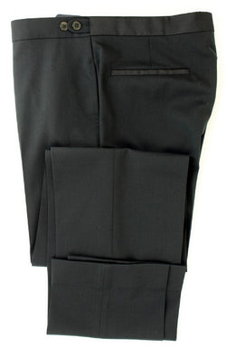Equipage - Black Wool Blend Tuexdo-Style Pants