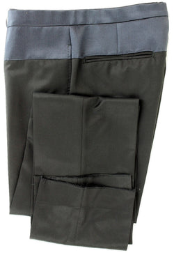 SHIPS Japan - Black Wool Pants w/Navy Silk Accent - PEURIST