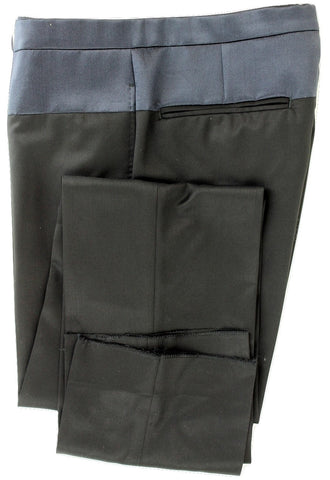 SHIPS Japan - Black Wool Pants w/Navy Silk Accent