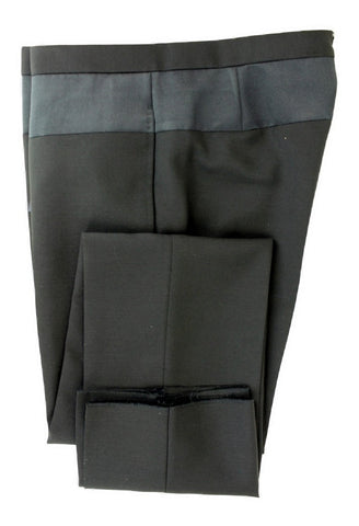 SHIPS Japan - Black Wool Pants w/Black Silk Panel