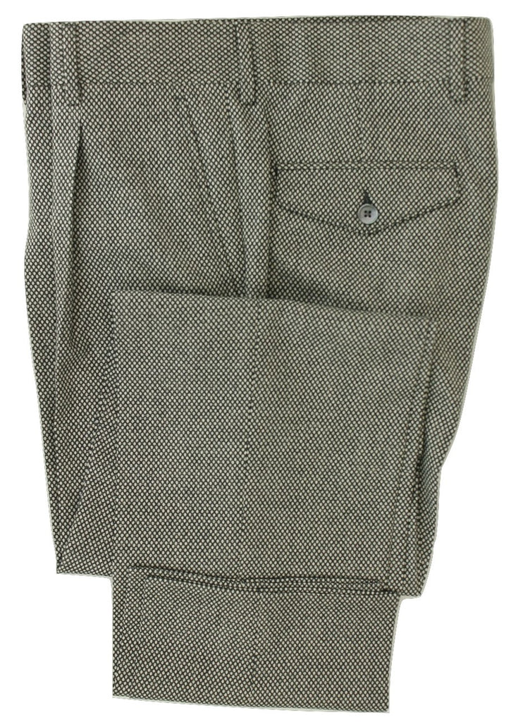 Equipage - Black & Gray Large Nailhead Wool Pants - PEURIST