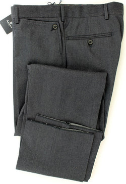 Aquascutum - Dark Indigo Worsted Wool Pants - PEURIST