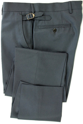 Equipage - Blue-Gray Light Flannel Wool Pants - PEURIST