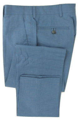 Equipage - Light Blue Linen/Cotton Blend Pants - PEURIST