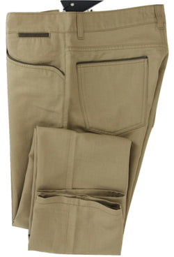 Equipage - Light Brown Cotton/Linen Five-Pocket Pants - PEURIST