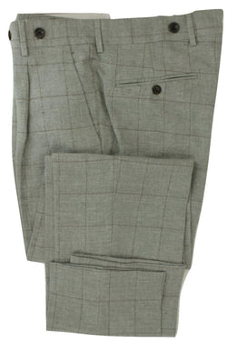 Equipage - Blue-Gray Linen Windowpane Pants - PEURIST