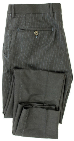 Equipage - Charcoal Wool Flannel Pants w/Loose Thread Print - PEURIST