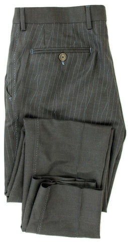 Equipage - Charcoal Wool Flannel Pants w/Loose Thread Print