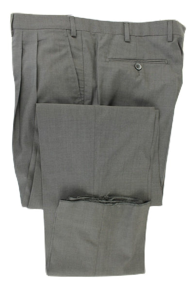 Covo & Covo Milano - Dark Charcoal Four Season Wool Pants, Double-Pleat - PEURIST