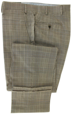 Covo & Covo Milano - Light Brown & Blue Prince of Wales Four Season Wool Pants - PEURIST