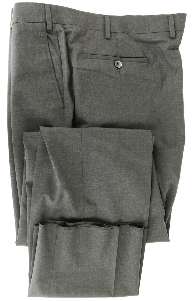 Covo & Covo Milano - Dark Charcoal Four Season Wool Pants, Classic Fit - PEURIST