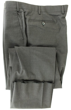 Covo & Covo Milano - Dark Charcoal Four Season Wool Pants, Classic Fit
