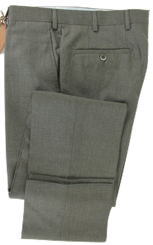 Made in Italy - Dark Charcoal Four Season Wool Pants