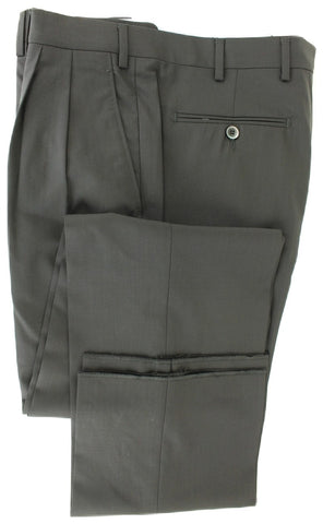 Covo & Covo Milano - Dark Navy Four Season Wool Pants, Double Pleat - PEURIST