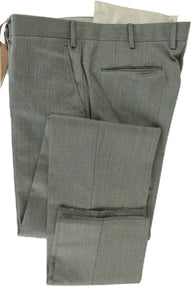 Made in Italy - Gray Worsted Wool Pants