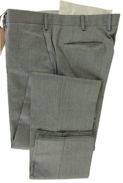 Vigano - Gray Worsted Wool Pants - PEURIST