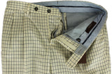 Vigano - Cream Four Season Wool Pants w/Navy Check