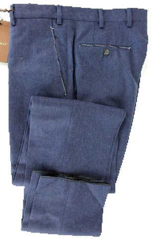 Vigano - Blue Wool Flannel Pants - PEURIST