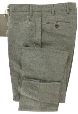 Made in Italy - Gray Flannel Wool & Cashmere Pants