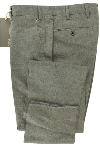Vigano - Gray Flannel Wool & Cashmere Pants - PEURIST