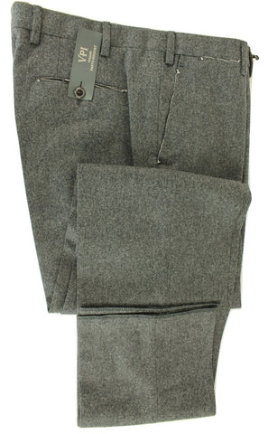 Vigano - Charcoal Wool Flannel Pants - PEURIST
