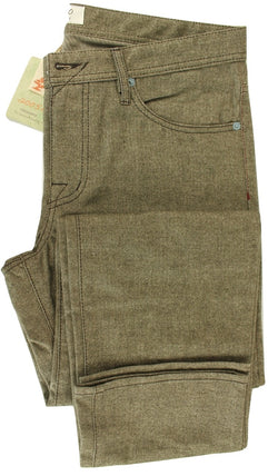 Vigano - Brown Herringbone Cotton 5-Pocket Pants - PEURIST