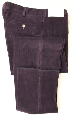 Tavola - Purple Cotton/Cashmere Corduroy Pants - PEURIST