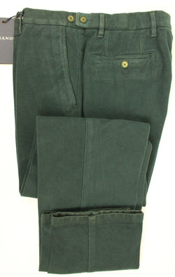 Vigano - Green Garment-Dyed Cotton Chinos - PEURIST