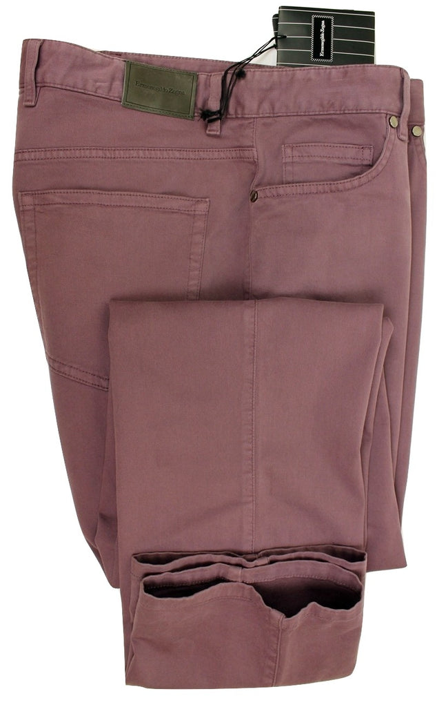 Ermenegildo Zegna - Faded Purple 5-Pocket Chinos - PEURIST
