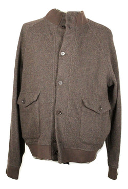Eidos – Brown Tweed Wool Bomber Jacket