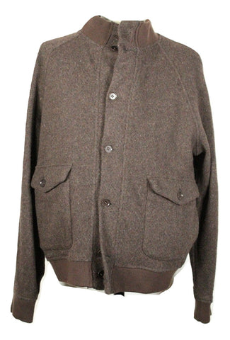 Eidos – Brown Tweed Wool Bomber Jacket - PEURIST