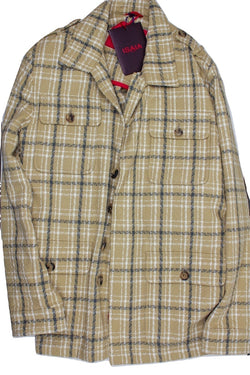 Isaia – Khaki Plaid Field Jacket