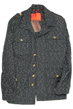 Isaia – Dark Blue Speckled Field Jacket