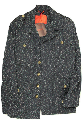 Isaia – Dark Blue Speckled Field Jacket - PEURIST